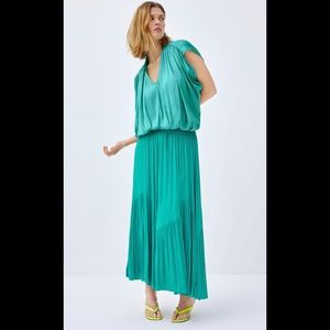 Zara Teal Boho Full Skirt